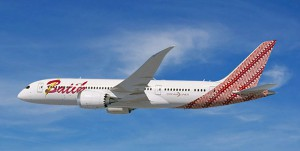 Artists impression of a Batik Air 787 Dreamliner.