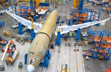 Boeing 787 on production line