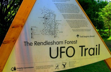 Rendlesham forest UFO trail sign
