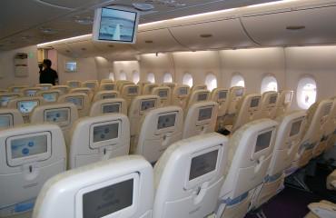 Airbus A380 coach class cabin