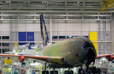 The Airbus A380 in production