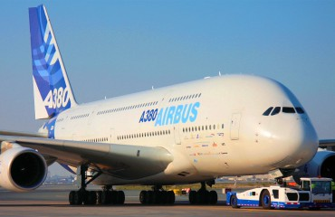 Airbus A380 on ramp