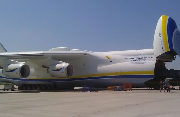 Antonov An-255 with nose cargo door open