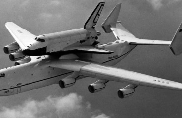 An-255 with Buran shuttle attached to top