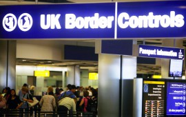 UK Immigration (border controls) at airport