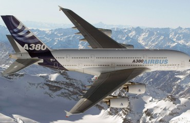 The most well known Airbus aircraft, the A380